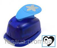 Фигурный дырокол, 3D Сердце , 2,5см, Heyda