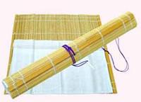 Пенал для кистей, бамбук, натуральный цвет+ткань (36х36см), D.K.ART & CRAFT
