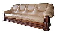 """Класичесский кожаный раскладной диван """"Гризли"""" Курьер искусственная кожа, 160см - 100см"""