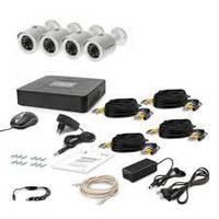 Комплект из 4-х уличных IP камер HD разрешения Tecsar Ip 4 Out