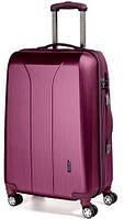 4-колесный пластиковый чемодан-гигант 110 л. MARCH New Carat 0081/22, бургунд