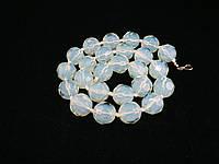 Бусы из лунного камня 50см, шар граненный 14мм, фото 1