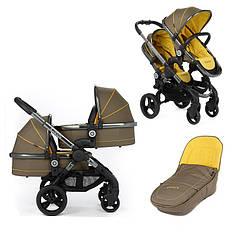 Детская коляска для двойни 2 в 1 iCandy Peach Twin желтый/зеленый