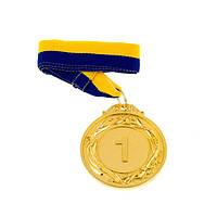 "Медаль с лентой ""Украина""  1-2-3 мест D=60 мм"