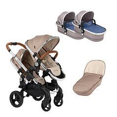 Детская коляска для двойни 2 в 1 iCandy Peach Twin Бежевый
