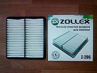 Фильтр воздушный Daewoo LANOS, Zollex арт.Z-206