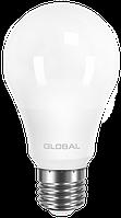Лампа светодиодная GLOBAL A60 10W 4100K 220V E27 AL Арт.(1-GBL-164)
