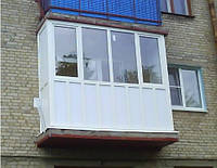 Балкон трёхкамерный  ( сохранение тепла до 21%)