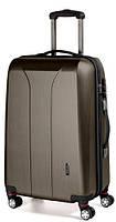 4-колесный пластиковый чемодан-гигант 110 л. MARCH New Carat 0081/39, бронзовый