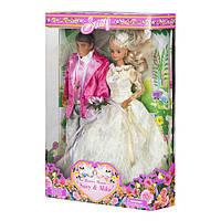 Куклы жених и невеста Susy 2703: праздничная одежда, руки и ноги на шарнирах, коробка 34х25х10 см