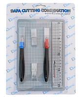 Набор для моделирования 2015: коврик самовосстанавливающийся, 2 макетный ножа, сменные лезвия, DAFA