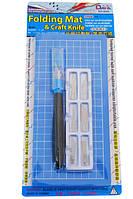 Набор для моделирования 2043: коврик самовосстанавливающийся нож макетный 6 сменных лезвий DAFA