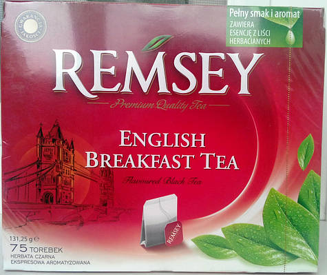 Чай в пакетах Remsey English Breakfast Tea - 75 шт.