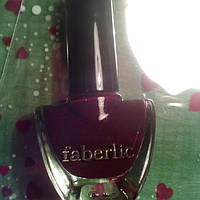 Лак для ногтей faberlic , вишневый