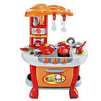 Игрушечная кухня для девочки 008-801A: 51х73х30 см, свет, звук, плита, духовка, посуда