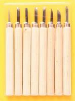 Резцы по дереву D.K.Art&Craft набор 8шт в блистере (6926586613240)
