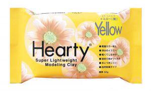 Пластика самозатвердевающая Hearty Желтая 50 г Padico