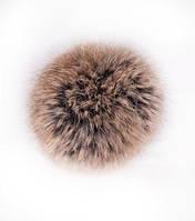 Бубон из натурального меха кролика (коричневый меллированный)