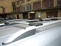 Поперечины (багажник) аэродинамические на рейлинги Мерседес Вито 639 (Mercedes Vito) цвет хром, крепление Abs