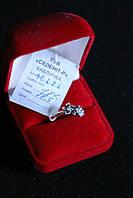 Кольцо   серебро 925 проба 18.5  размер с цирконами с чернением