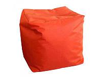 Пуф куб оранжевого цвета, 40х40х40см, Оксфорд