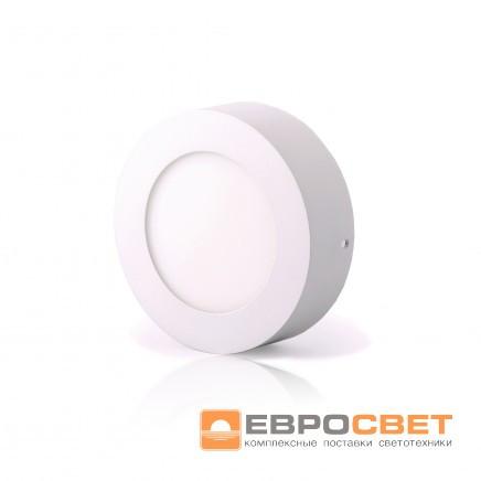 Светодиодный светильник LED-SR-120-6 6Вт 4200К круг накладной Евросвет
