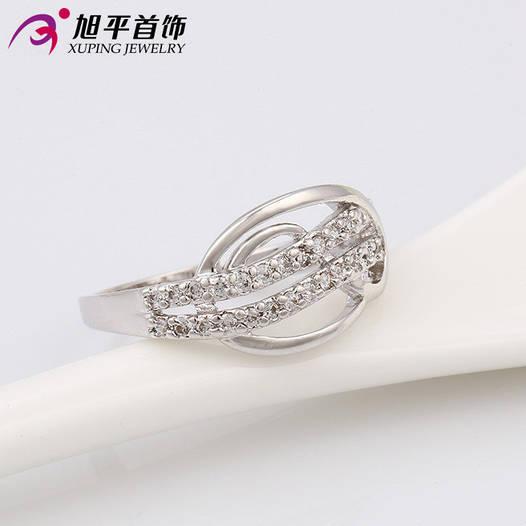 Кольцо 53391 размер 16, позолота Белое Золото
