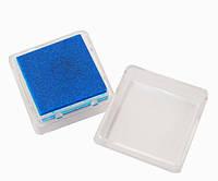 Штемпельная подушка с пигментным чернилом, Темно-синяя, 2,5x2,5см, Heyda