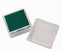 Штемпельная подушка с пигментным чернилом, Темно-зеленая, 2,5x2,5см, Heyda
