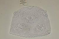 Вязанная шапочка 42-44 р белая,ажурная.