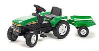 Трактор на педалях с прицепом TracFarm Falk  зеленый