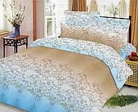 Двуспальный комплект постельного белья Голубой Завиток