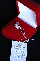 Кольцо   серебро 925 проба 16.5  размер с цирконами