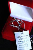 Кольцо   серебро 925 проба 19.5  размер с цирконами