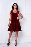 Женское стильное бархатное платье-рюша (3 цвета), фото 7