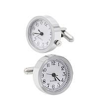 Запонки Bow Tie House элитные с механизмом часов quartz watch 08620