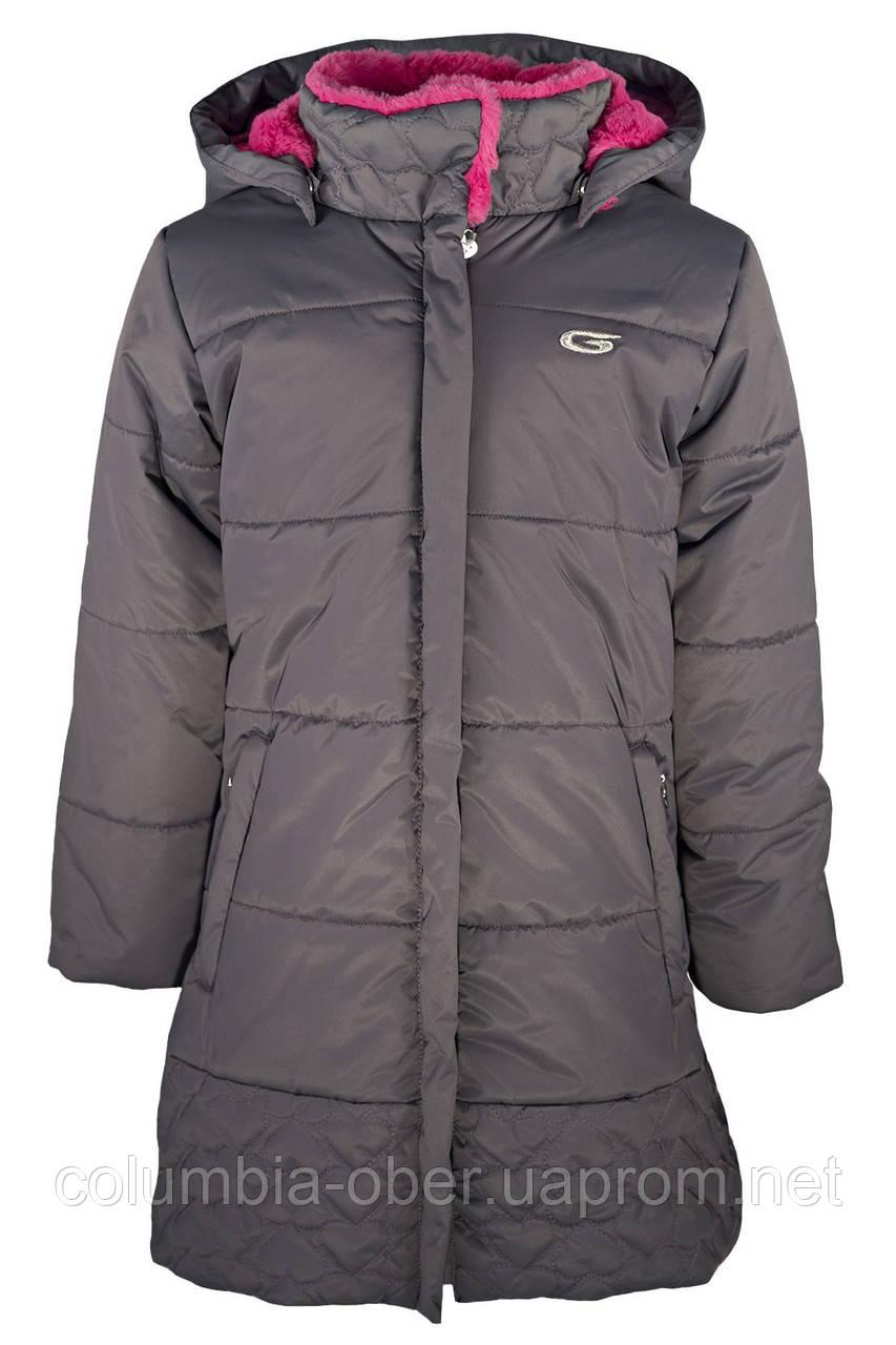 Зимнее пальто для девочки Gusti GWG 6460-CASTLEROCK. Размер  116 - 164.