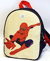 Детский джинсовый рюкзак человек паук