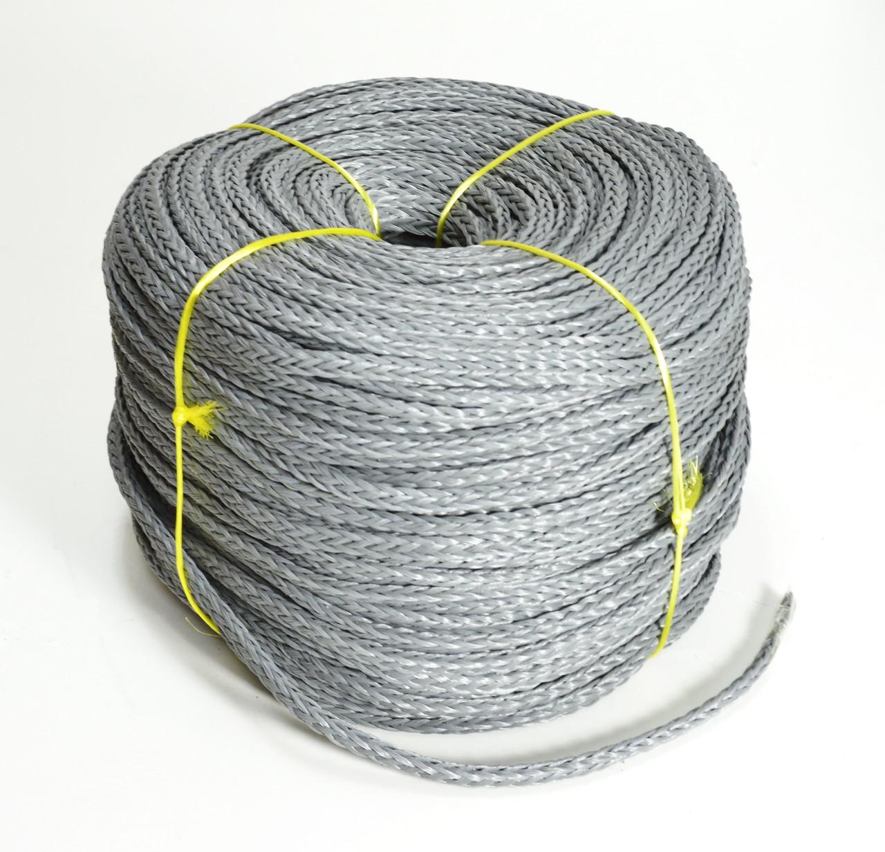 Веревка для швартовки нетонущая серая, 12мм, 200м