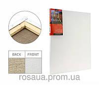 Холст на подрамнике, 55x55 см, среднее зерно, акрил, лён, ROSA