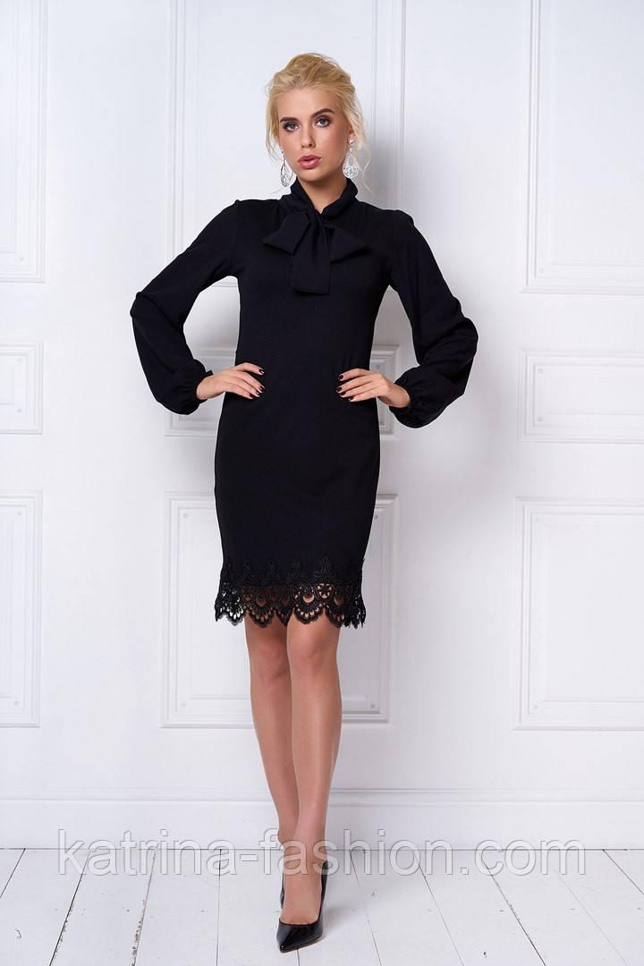 Женское стильное платье с кружевом (5 цветов)