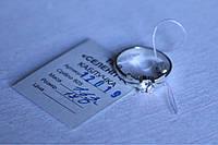 Кольцо   серебро 925 проба 17  размер с цирконами