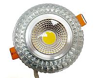 Светодиодный светильник 6Вт RGB silver 3000K, LED102541