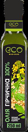 Масло горчичное Eco Olio 100% чистое первого холодного отжима, 250 мл.