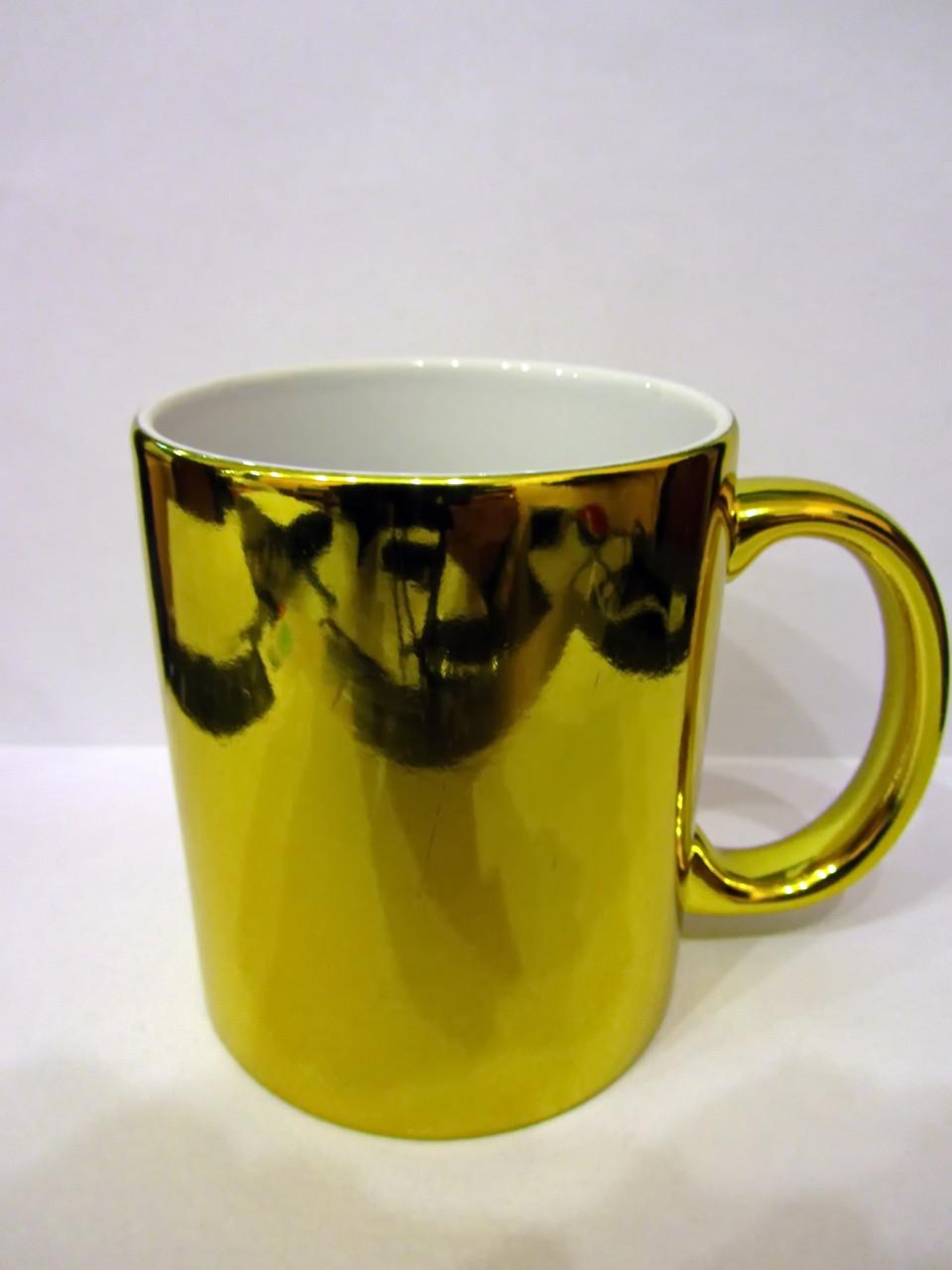 Чашка для сублимации зеркальная 330 мл (ЗОЛОТО)