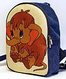 Дитячий джинсовий рюкзак Мамонтеня, фото 2