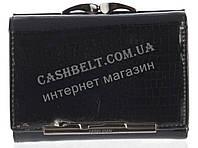Маленький оригинальный лаковый женский кожаный кошелек высокого качества LE PELICAN art. 8357 A003 черный
