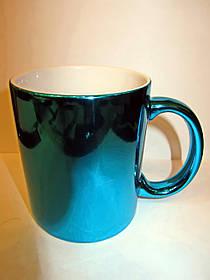 Чашка для сублимации зеркальная 330 мл (ГОЛУБОЙ)