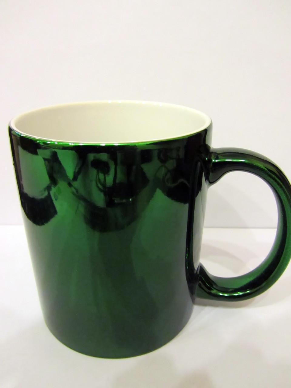 Чашка для сублимации зеркальная 330 мл (ЗЕЛЕНЫЙ)