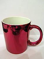 Чашка для сублимации металлизированная 330 мл (КРАСНЫЙ)